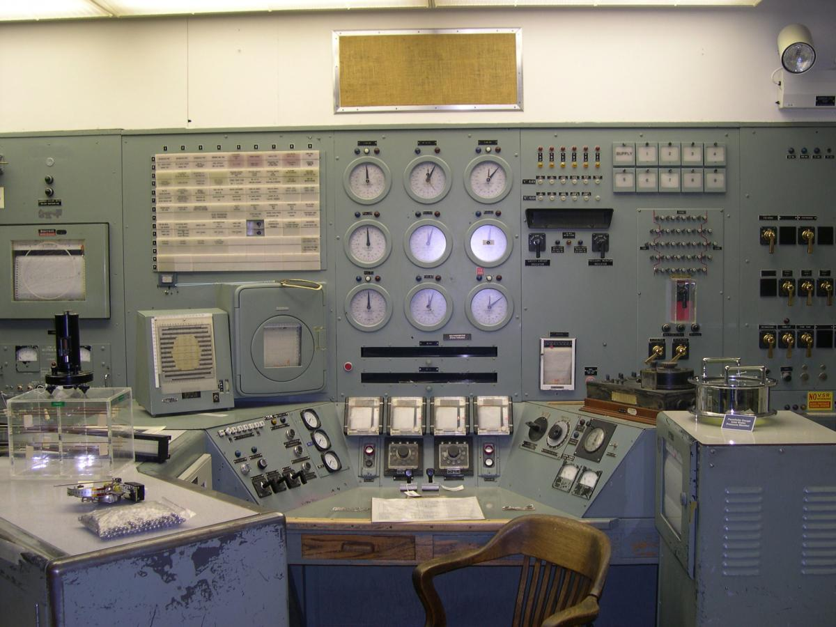 The control room at B Reactor