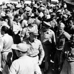 General Spaatz among the 509th on Tinian
