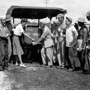 A Red Cross Worker on Tinian Island, 1945